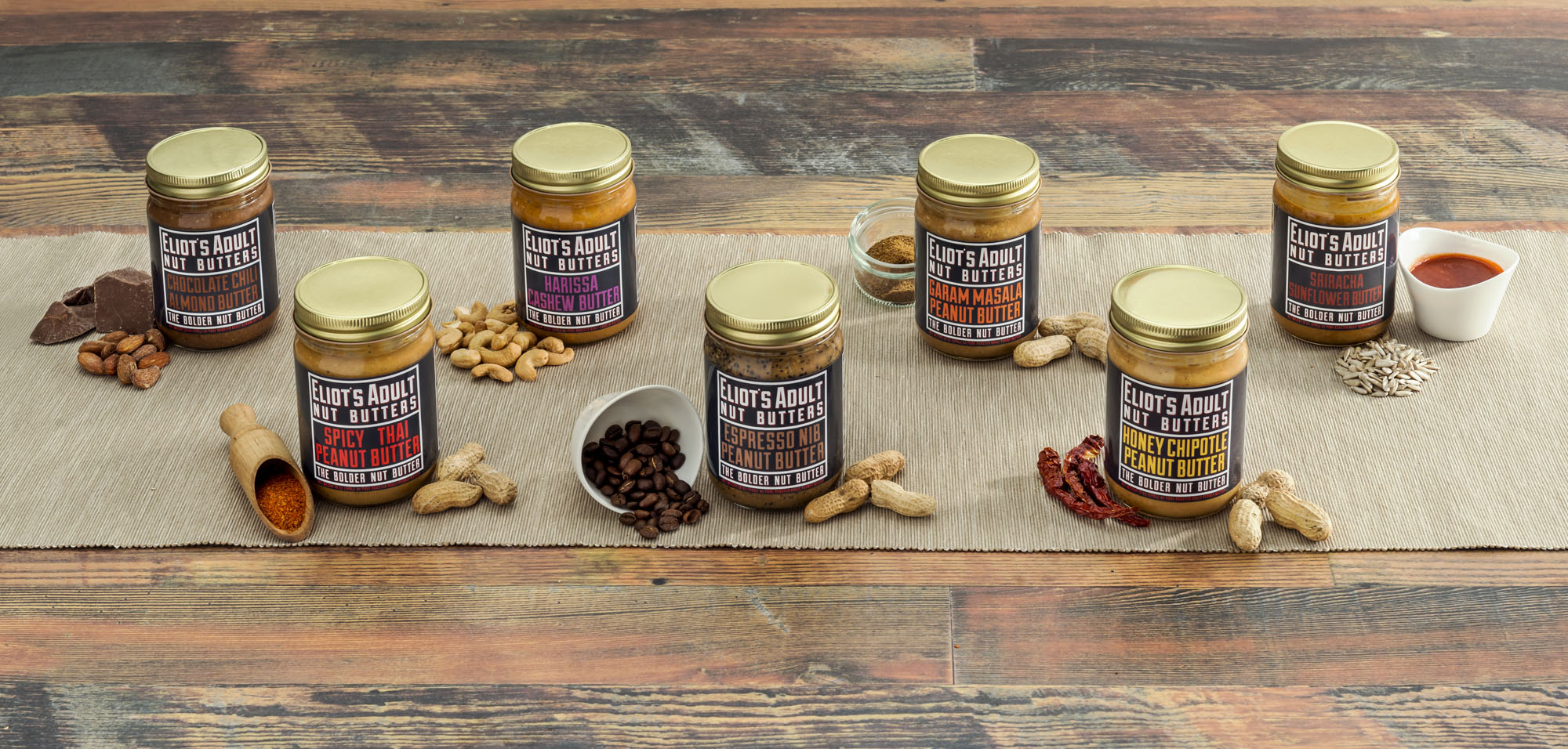 Eliot's Aoult Nut Butter_product photography_food shots_PENCIL ONE